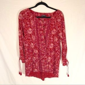 Lucky Brand Red Blouse Size Medium